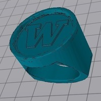 "Small ""W"" Ring 3D Printing 97821"