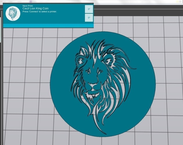 Cecil the Lion King Coin 3D Print 97833