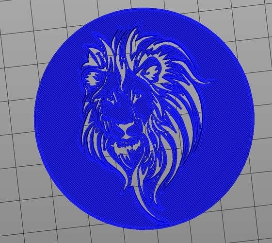 Cecil the Lion King Coin 3D Print 97834