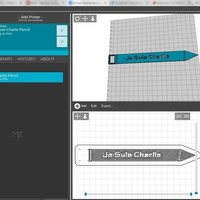 Small Je Suis Charlie 3D Printing 97862