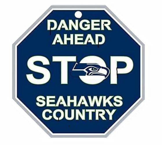 Seattle Seahawks Stop Sign 3D Print 97871