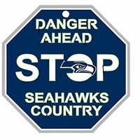 Small Seattle Seahawks Stop Sign 3D Printing 97871