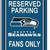 Small Seattle Seahawks Parking Sign 3D Printing 97872