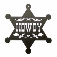 Small Toy Sheriff Badge - Howdy!  3D Printing 97886