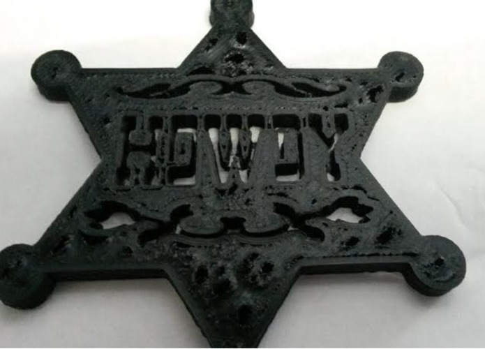 Toy Sheriff Badge - Howdy!  3D Print 97887