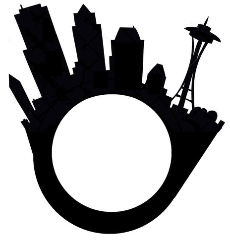 Seattle City Skyline Ring with Space Needle 3D Print 97910
