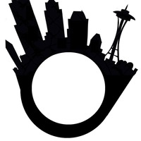 Small Seattle City Skyline Ring with Space Needle 3D Printing 97910