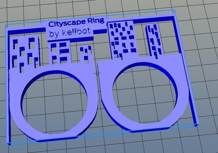Cityscape Ring - we love you! 3D Print 97939