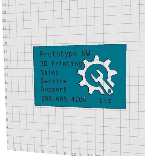 Business Card Prototype for Prototype NW  3D Print 97967