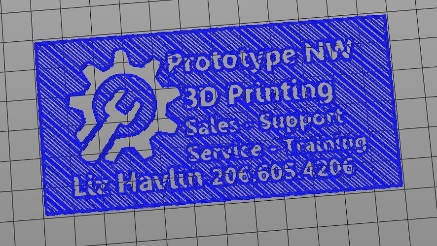 Business Card Prototype for Prototype NW  3D Print 97968