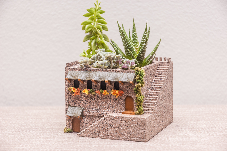 Mini Middle Eastern Villa Planter 3D Print 98061