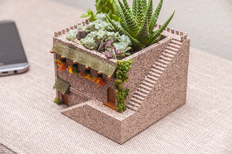 Mini Middle Eastern Villa Planter 3D Print 98062