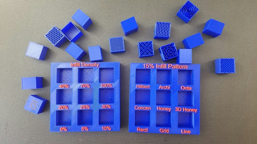 Display Tray for Infill Pattern and Infill Density 3D Print 98125