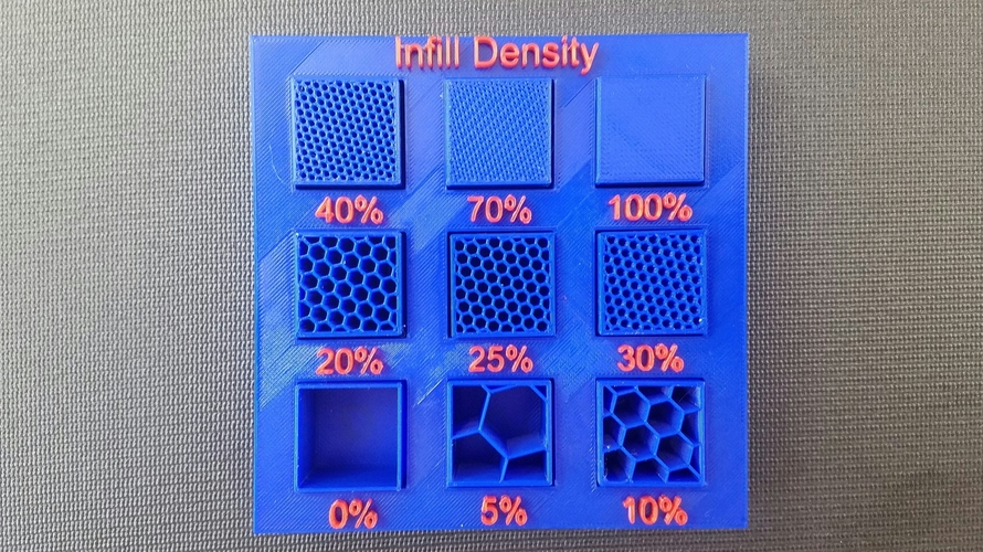Display Tray for Infill Pattern and Infill Density 3D Print 98144
