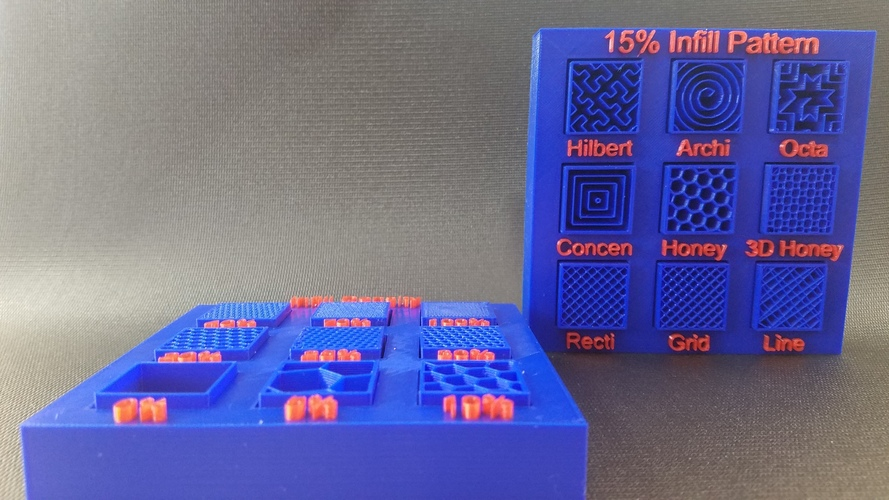 Display Tray for Infill Pattern and Infill Density 3D Print 98149