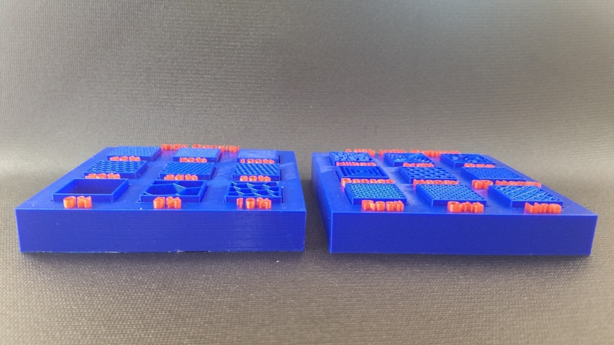 Display Tray for Infill Pattern and Infill Density 3D Print 98150