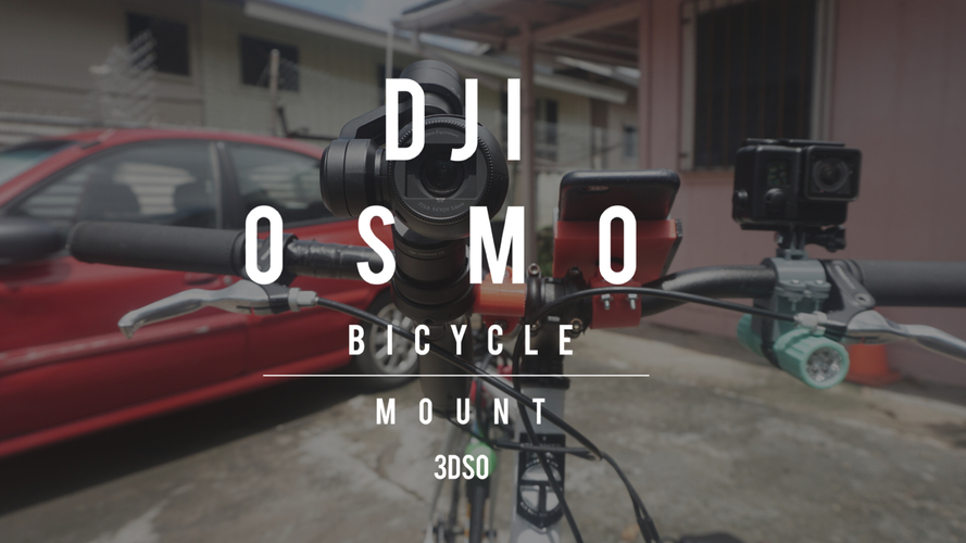 DJI OSMO Bicycle Mount V. 1 3D Print 98155