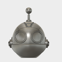 Small Clank Head keychain 3D Printing 98210