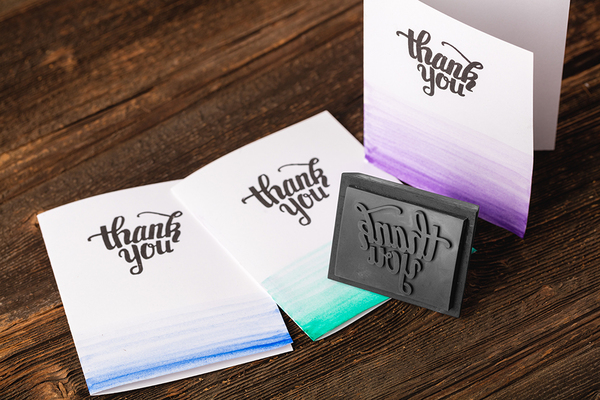 Medium Thank You Stamp 3D Printing 98219