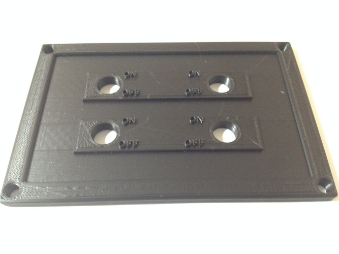 4 Switch Plate 3D Print 98400