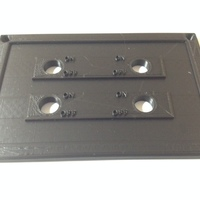 Small 4 Switch Plate 3D Printing 98400