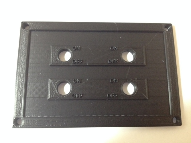 4 Switch Plate 3D Print 98401