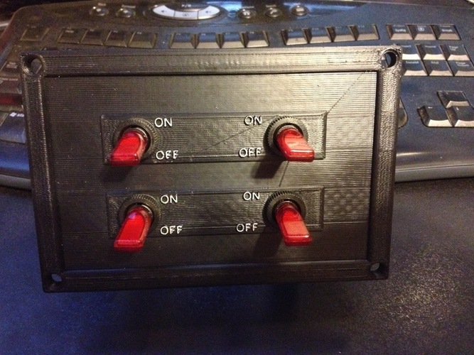 4 Switch Plate 3D Print 98402