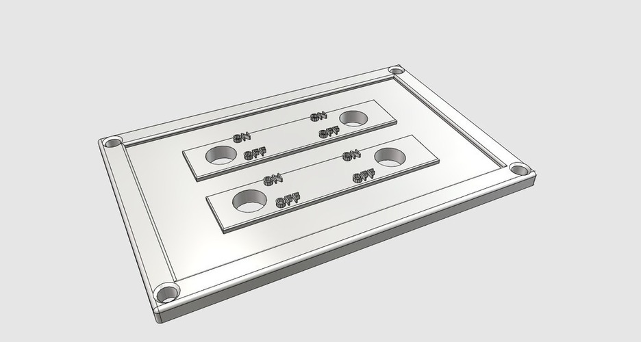 4 Switch Plate 3D Print 98403