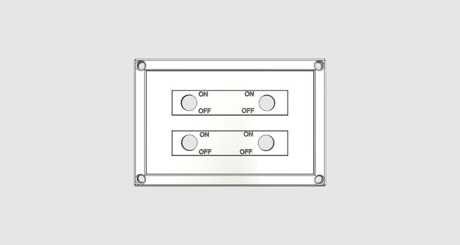 4 Switch Plate 3D Print 98405