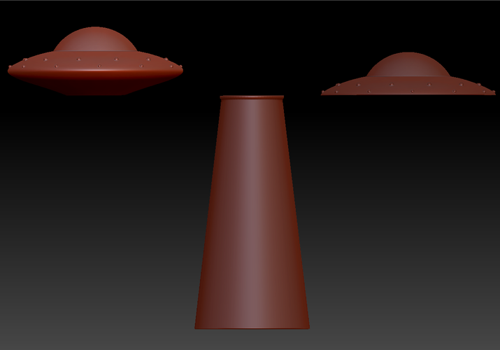 UFO and Abduction beam (night light/lamp) 3D Print 98478
