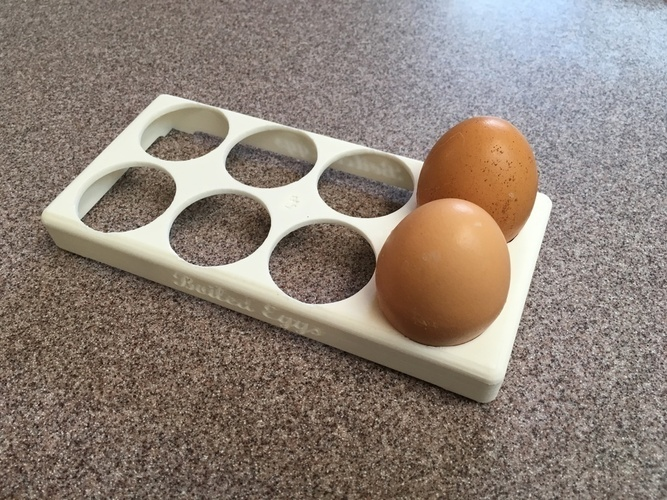 Boiled Eggs Tray 3D Print 98503