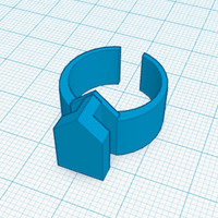 Small Ring with Surface Attachment 3D Printing 98509
