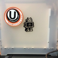 Small UltiMachine Magnetic Sticker Plate 3D Printing 98593