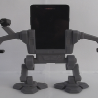 Small Mech Phone Stand. 3D Printing 98611