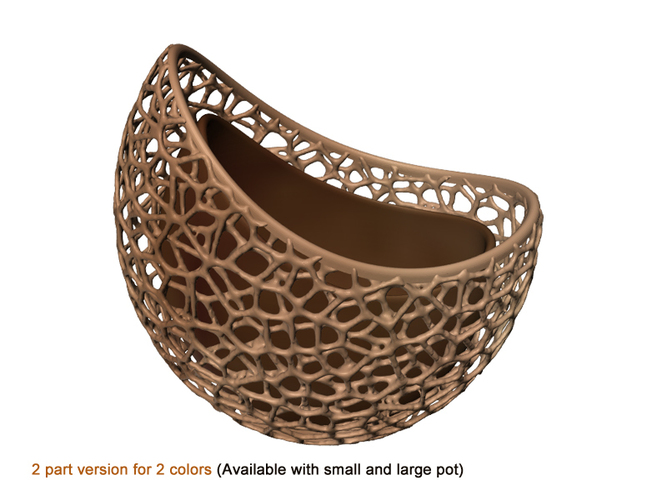 A burgeoning capsule Planter (2-color/part version) 3D Print 98634