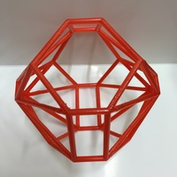 Small Hyperbolic polytope for d=-77 3D Printing 98757