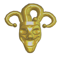 Small Joker Head Logo 3D Printing 98768
