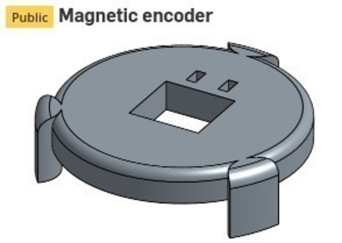 Magnetic encoder for Nidec Brushless motor 3D Print 98968