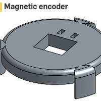 Small Magnetic encoder for Nidec Brushless motor 3D Printing 98968
