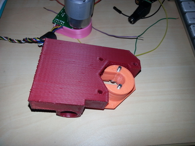 Change your stepper by a servo DC motor on Prusa i3 x-axis 3D Print 98985