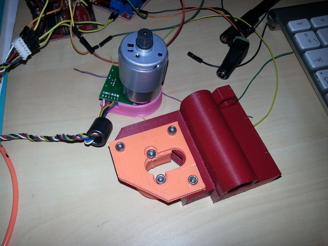 Change your stepper by a servo DC motor on Prusa i3 x-axis 3D Print 98988