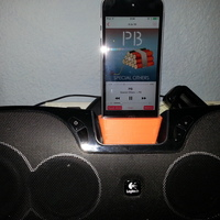 Small Ipod support for Logitech loudspeakers 3D Printing 98989