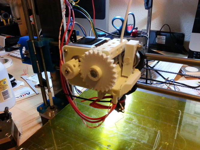 Prusa i3 compact extruder 3D Print 99087