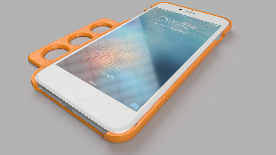 Ergo iPhone 6 Plus Case - For Limited Hand Mobility 3D Print 99150