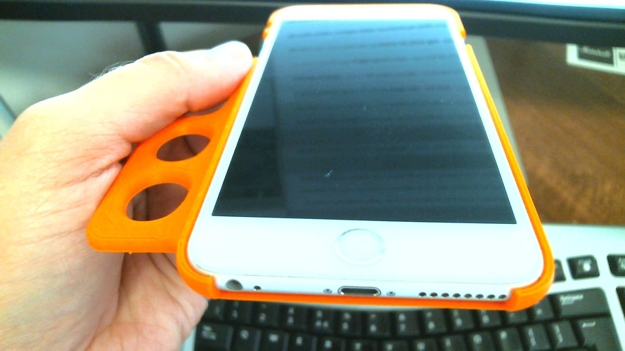Ergo iPhone 6 Plus Case - For Limited Hand Mobility 3D Print 99159