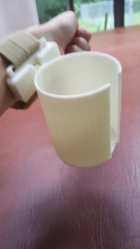 Articulated Wrist Mounted Cup Holder 3D Print 99418