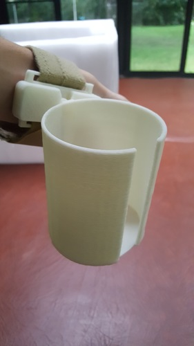 Articulated Wrist Mounted Cup Holder 3D Print 99420