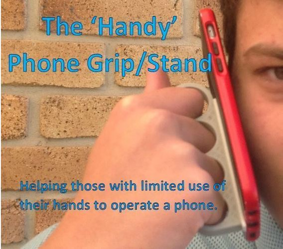 'Handy' Phone Grip/Stand 3D Print 99490