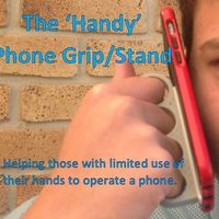 Small 'Handy' Phone Grip/Stand 3D Printing 99490