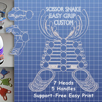 Small Scissor Snake Easy Grip Custom 3D Printing 99646